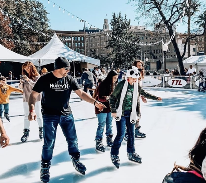 Skaters at the Rotary Ice Rink in late 2019. - INSTAGRAM / ROTARYICERINK