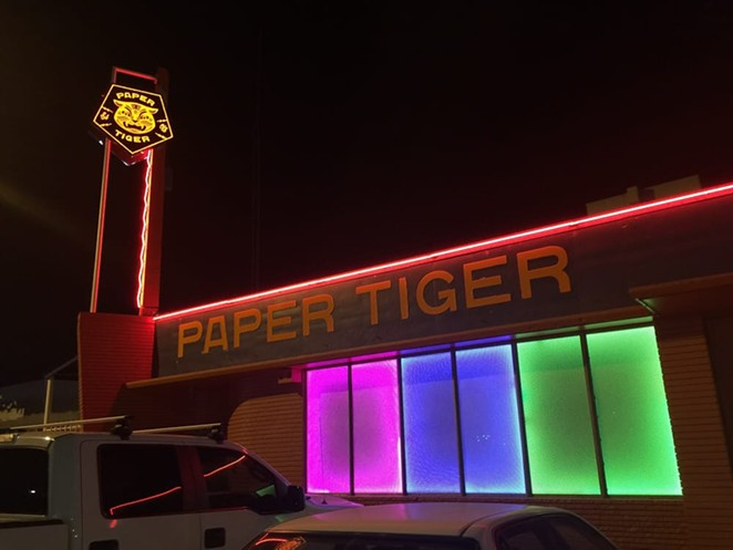Independent venues such as San Antonio's Paper Tiger could get a lifeline via a federal bailout that would let them cover rent and other expenses during the pandemic. - PHOTO VIA YELP / LISA J.