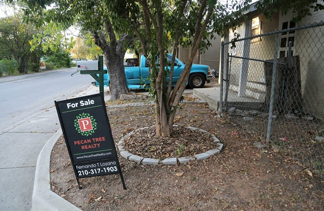 This property, which is owned by Sara Martinez, is up for sale. - PHOTO BY BEN OLIVO / SAN ANTONIO HERON
