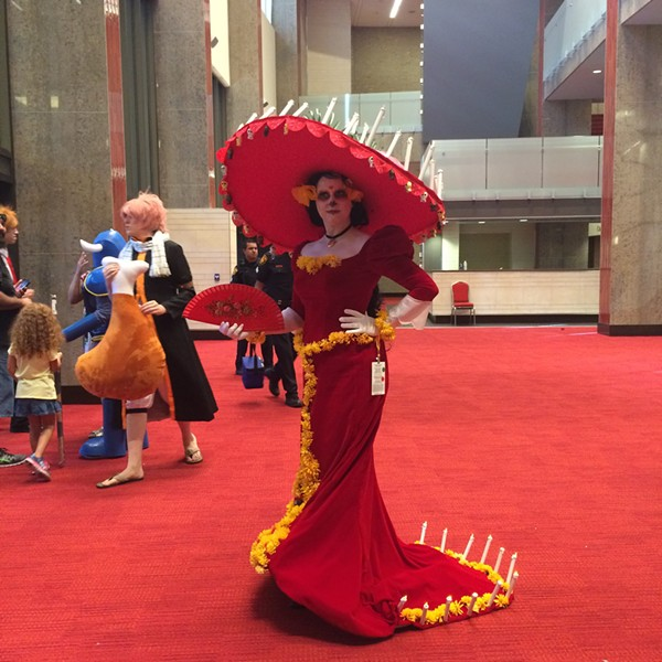 Amazing cosplay of La Muerte from 2014's Book of Life. - JESSICA ELIZARRARAS