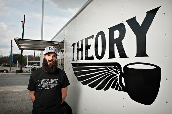 Theory Coffee owner Mark Vollmer. - SLEEPING OWL PHOTOGRAPHY