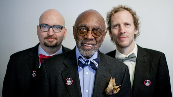 "Albert ""Tootie"" Heath (center) with pianist Ethan Iverson (left) and bassist Ben Street. - COURTESY"