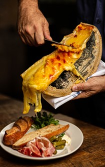 Raclette and baguette at Brasserie Mon Chou Chou. - COURTESY PEARL