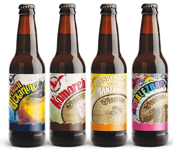 Freetail is releasing four beers in September, Peach Bexarliner, Komorebi, Despertado de Manzanilla and a #Whalezbro - COURTESY