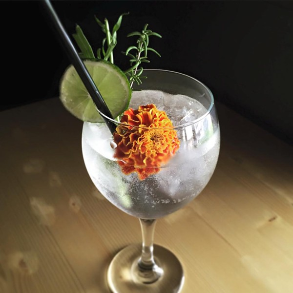 Check out Mezacaería Mixtli's as they open the curtain on their new drink menu, plus old favorites such as this Spanish Gin and Tonic. - MEZCALERÍA MIXTLI/COURTESY