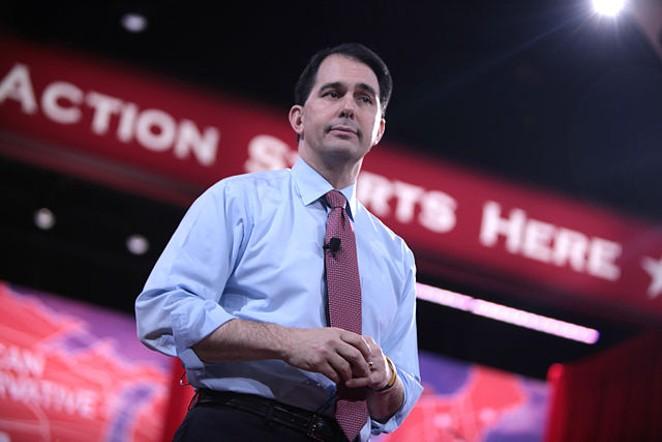 Wisconsin Governor Scott Walker will campaign in San Antonio tomorrow. - VIA GAGE SKIDMORE/WIKIMEDIA COMMONS