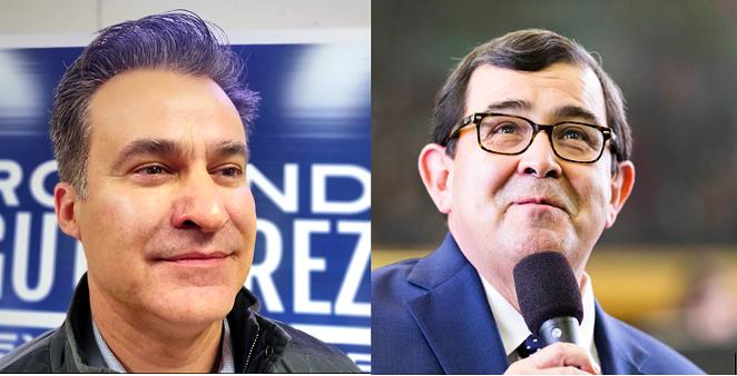 Democratic Texas Rep. Roland Gutierrez (left) is running against first-term Texas Sen. Pete Flores (right), a Republican. - JADE ESTEBAN ESTRADA (LEFT) AND FACEBOOK / TEXAS SEN. PETE FLORES (RIGHT)