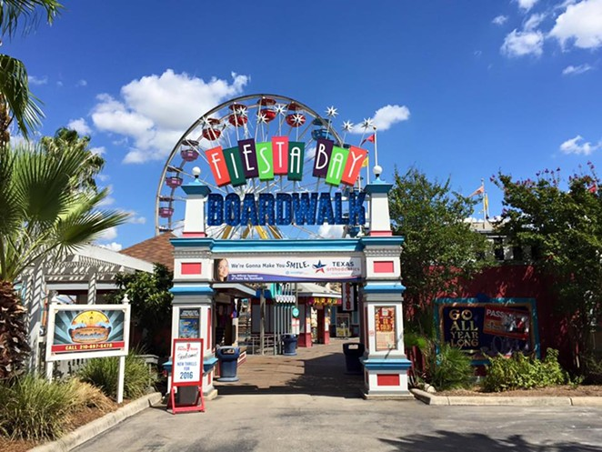 Three new rides will anchor the Bay Boardwalk at Six Flags Fiesta Texas in 2016. - COURTESY