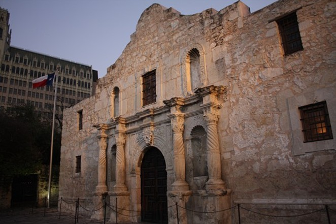 Julio Perez, 22, was arrested for carving his name inside The Alamo. - WIKIMEDIA COMMONS