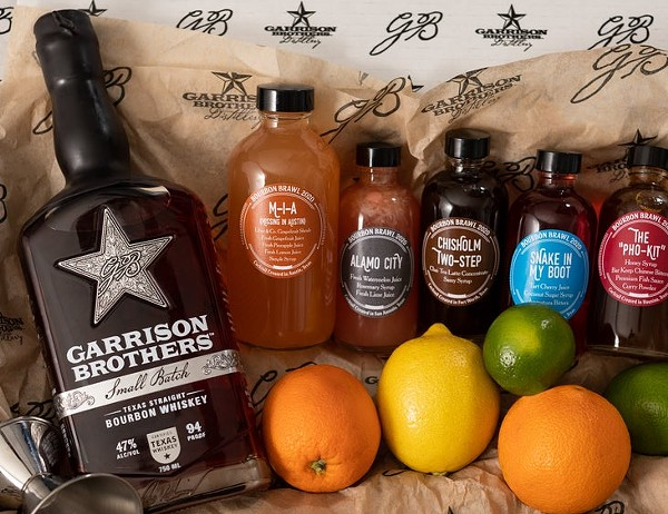 The 2020 Bourbon Brawl kit (not pictured, the custom ice mold). - COURTESY GARRISON BROTHERS DISTILLERY