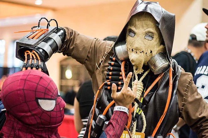 Young cosplayers do battle AT THE 2014 Alamo City Comic Con. - RICK CANFIELD