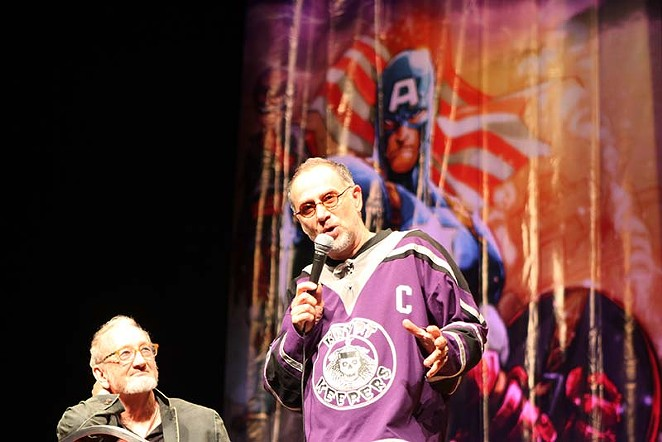 """Freddy Krueger himself, Robert Englund and John Kassir, who was the voice of the Crypt Keeper from Tales from the Crypt participate """"Masters of Horror"""" panel at the 2014 Alamo City Comic Con. - LINDA ROMERO"""