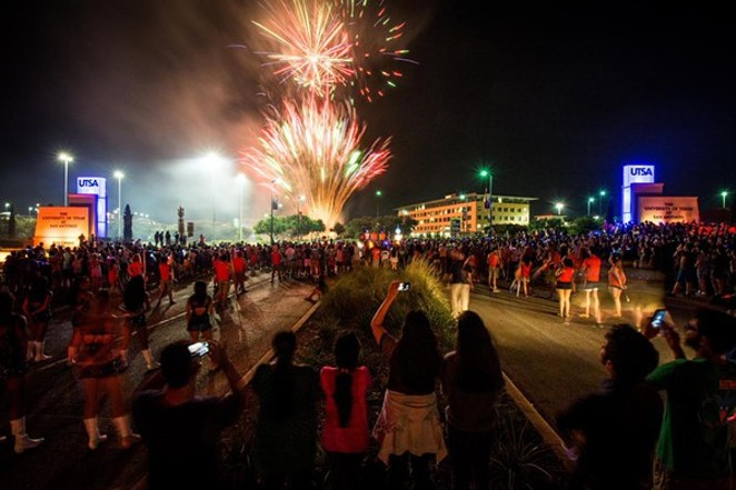 UTSA kicked off the fall semester with fireworks. - UTSA STUDENT AFFAIRS/TWITTER
