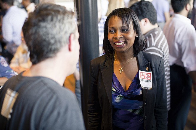 Mayor Ivy Taylor spoke at Tech Bloc - COURTESY