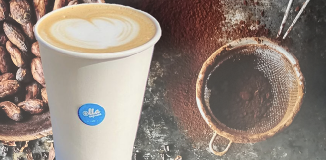 The dark chocolate molé latte will feature double espresso, Mexican chocolate, molé spices, traditional piloncillo and steamed milk. - COURTESY OLLA EXPRESS