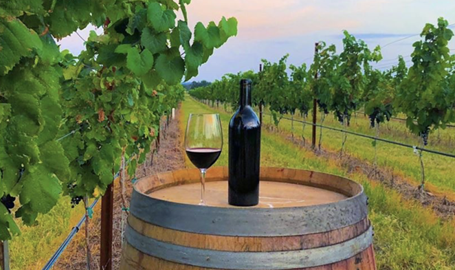 Fredericksburg, Texas is home to many tasting rooms and wineries, such as Augusta Vin Estate Winery, pictured here. - INSTAGRAM / AUGUSTAVINWINERY