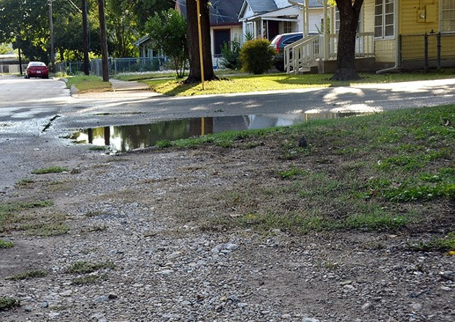 The map below reflects San Antonio's inconsistent sidewalk infrastructure. - MICHAEL MARKS