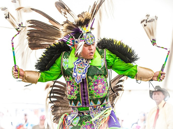 Cecil Gray (Cheyenne/Kiowa) will be the head man dancer at this year's powwow. - COURTESY