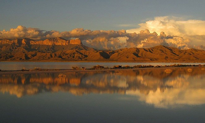 Rains flooded the Guadalupe Mountains National Park salt flats in 2014. - KATIE YATES/NATIONAL PARKS SERVICE