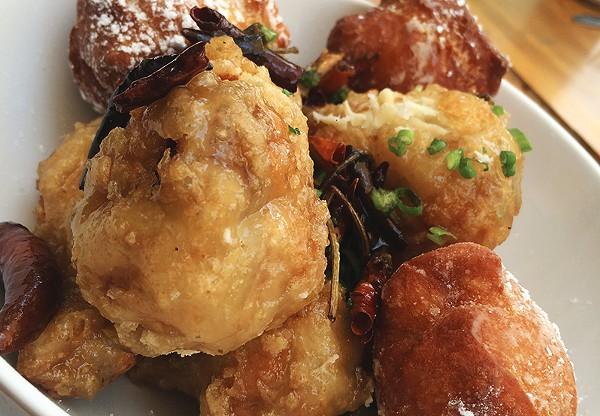 Chicken and beignets at Alchemy. - COURTESY