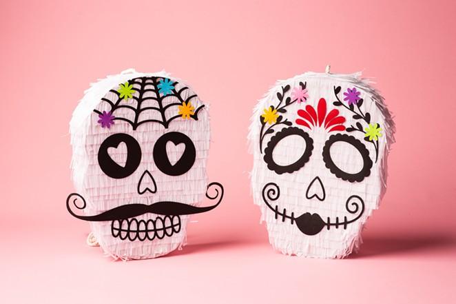 Feliz Modern POP iss selling DIY skull piñatas designed by local artists Manola & Maria and Lua Bash. - COURTESY OF PEARL