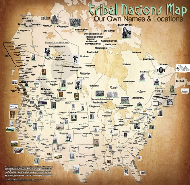 A map of Mexico features both the original and commonly known names of some indigenous nations. (CLICK TO ENLARGE) - AARON CARAPELLA