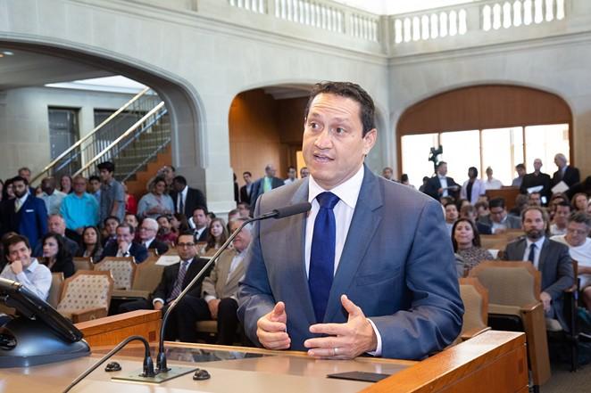 State Rep. Trey Martinez Fischer speaks during a San Antonio City Council meeting. - FACEBOOK / TREY MARTINEZ FISCHER