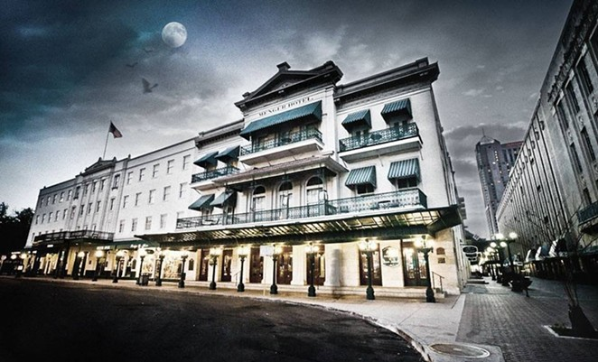 Sisters Grimm Ghost Tours take you inside the infamously haunted Menger Hotel. - COURTESY