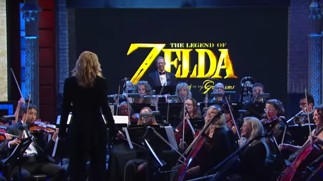 The Legend of Zelda: Symphony of the Goddesses performing on The Late Show with Stephen Colbert - VIA THE LATE SHOW