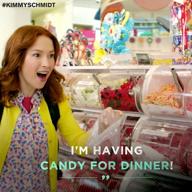 "The adorable Ellie Kemper plays Kimmy Schmidt in this new comedy ""cult"" favorite now streaming on Netflix. - FACEBOOK/UNBREAKABLE KIMMY SCHMIDT"