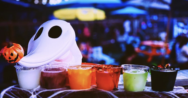 Try the new Halloween-themed margarita flight at Hops & Hounds' event Saturday. - INSTAGRAM / HOPSHOUNDSSA