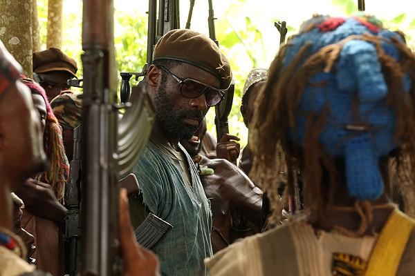 Idris Elba doing his best Col. Kurtz - NETFLIX