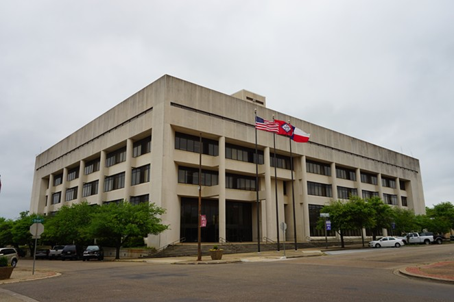 The Bi-State Justice Building in Texarkana. The jail and Bowie County Correctional Center are managed by LaSalle Corrections. - WIKIMEDIA COMMONS / MICHAEL BARERA