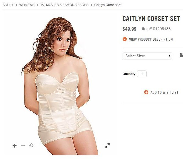 The Caitlyn Corset Set for sale at Spirit Halloween. Don't buy it. - SPIRIT HALLOWEEN