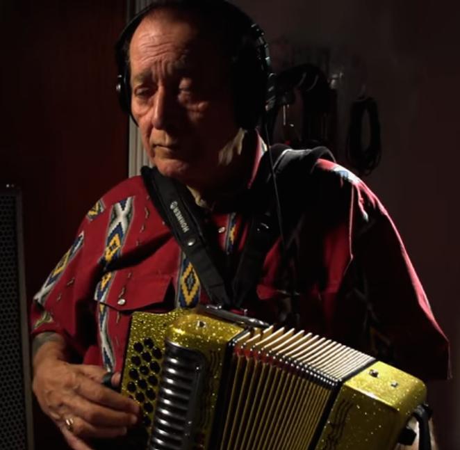 "A still from Flaco Jiménez and Max Baca's ""Margarita, Margarita"" video, off of Legends & Legacies"