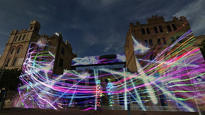 Korean artist Siyon Jin's light-based project Flow. - COURTESY