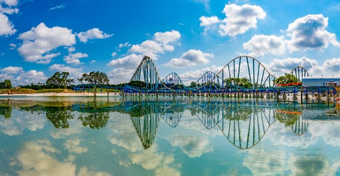 A photo of SeaWorld's Wave Breaker: Rescue Coaster taken just prior to its opening in 2017. - TWITTER / SEAWORLDTEXAS