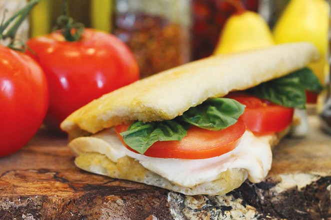South Alamode Panini & Gelato Company caprese panini. - COURTESY