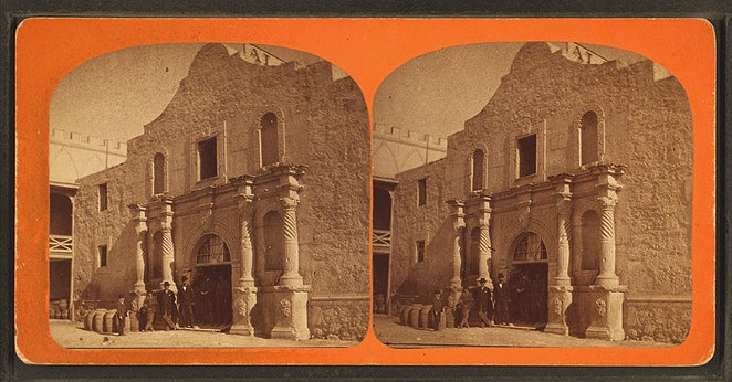The Alamo in the mid-1800s, after a French businessman bought the convento. - WIKIMEDIA