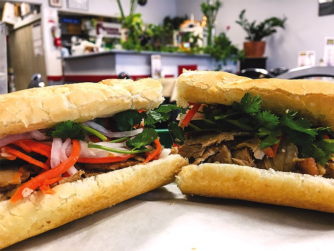 Get out of that ham-and-cheese comfort zone! This sandwich can take the place of your regular club sandwich lunch. One of the main things to remember with Vietnamese cuisine is that sauce matters — don't forget the hoisin, Sriracha, soy and sweet chili sauce. - JACQUELINE FIERRO