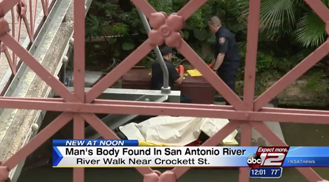 A body was floating in San Antonio River today in the heart of the River Walk. - VIA KSAT-12