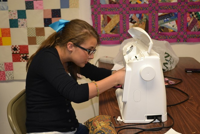 Lauren Nicole, a 15-year-old fashion designer in San Antonio, will debut her first collection tonight. - COURTESY