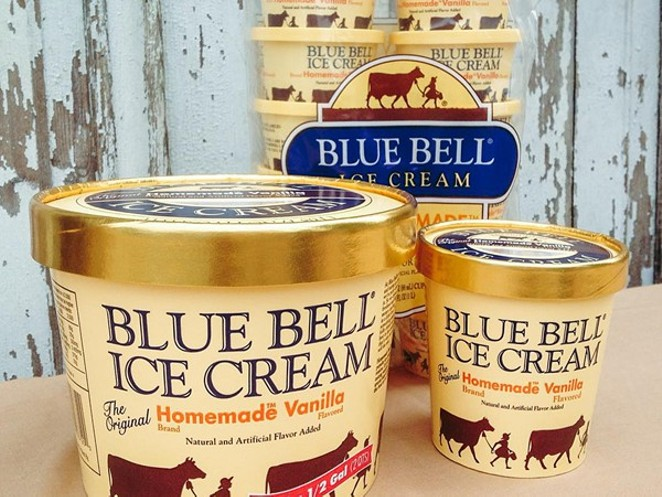 Blue Bell Ice Cream returns to San Antonio next month. - BLUE BELL ICE CREAM/FACEBOOK