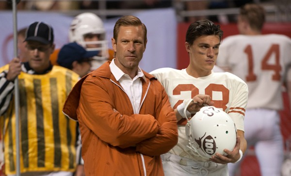 Aaron Eckhart plays the iconic UT football coach Darrell Royal in My All-American. - AARON ECKHART