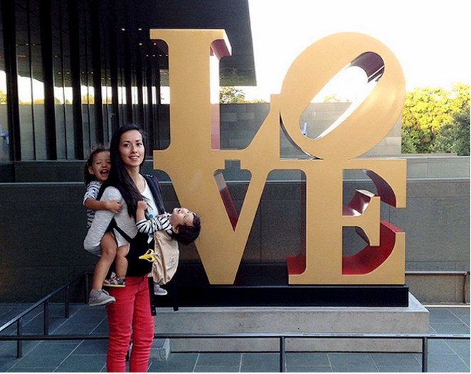 "People love taking selfies in front of Robert Indiana's ""LOVE"" sculpture at the McNay Art Museum. - COURTESY"