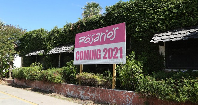 The former El Mirador property, 722 S. St. Mary's St., looks to be the future home of Rosario's. - BEN OLIVO