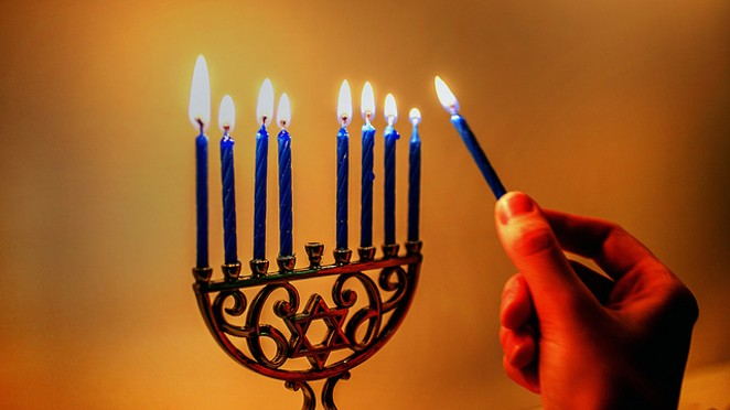 The menorah at The Pearl will be quite a bit larger than this one. - FLICKR CREATIVE COMMONS