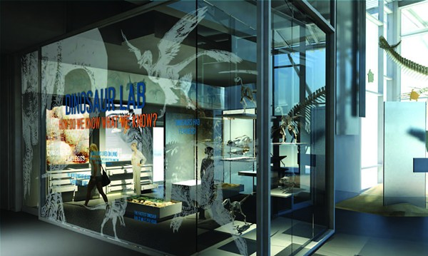 A rendering of the Witte's first-ever permanent Dinosaur gallery. - COURTESY