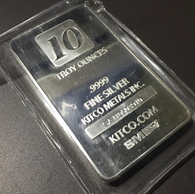 This isn't one of the silver  bars for sale, but if you scroll to the bottom you can see the precious metal for sale in a pdf document.