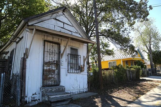 This shotgun house is located on the Rinconcito de Esperanza property on South Colorado Street, which is a historic district. - BEN OLIVO / SAN ANTONIO HERON